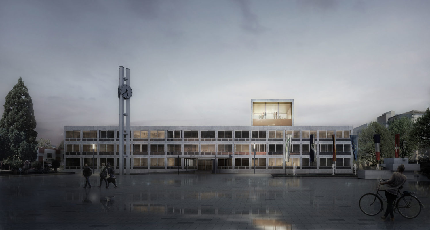 <h17>Blocher Partners Stuttgart</h17></br><h18>Extention to the town hall Weil am Rhein </h18></br><h19>Competition, 1st prize</h19>